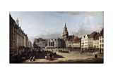 The Old Market Place in Dresden  C1750-C1752