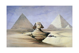The Great Sphinx and Pyramids at Giza  1838-1839