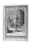 Pygmalion Is Enamoured with a Statue He Has Made  1733