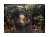 Landscape with the Apostle Philip Baptizing the Eunuch  (1590-1632)