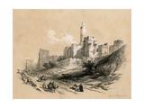 The Tower of David  Jerusalem  Israel  1855