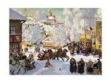 Shrovetide, 1919 Giclée par Boris Mikhajlovich Kustodiev
