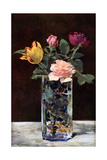 Still Life with Roses and Tulips in a Dragon Vase  1882