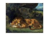 Lion Devouring a Rabbit  19th Century