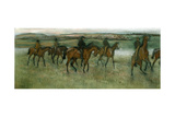 Exercising Racehorses  C1880