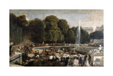 Entry of the Duchess of Orleans in the Garden of Tuileries  1841
