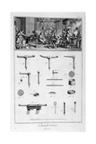 Interior of a Ironmongers  and Plans of Instruments  1751-1777