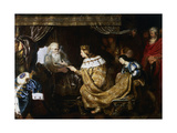 David Presenting the Sceptre to Solomon  Early 17th Century