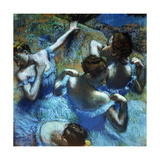 Dancers in Blue, C1898 Giclée par Edgar Degas