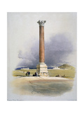 Pompey's Pillar  Alexandria  19th Century