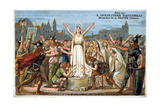 Saint Genevieve Promises to Save Lutece  Middle Ages 19th Century
