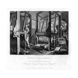 The Fellow Prentices at their Looms  Plate I of Industry and Idleness  1833