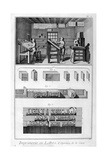 Interior of a Printing Works  Type Setting  1751-1777