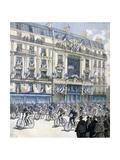 Start of the Paris-Brest-Paris Cycle Race  1891