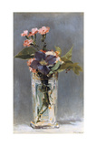Violets and Clematis in a Crystal Vase  1882