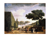 View in the Park of the Villa Pamphili in Rome  1749