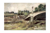 The Bridge at the Aisne  France  1915