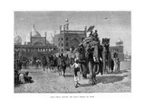 Shah Jehan Leaving the Great Mosque at Delhi  C19th Century