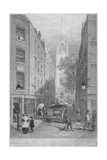 Church of St Dunstan-In-The-East from the Custom House  City of London  1828