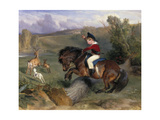 The First Leap: Lord Alexander Russell on His Pony 'Emerald'  1829