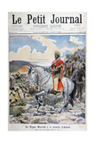 Negus of Ethiopia  Menelik II  at the Battle of Adoua  1898