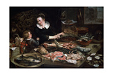 A Fishmonger's Shop  C1616-1618