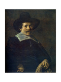 Portrait of a Man Holding Gloves  C1645