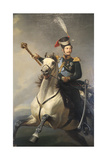 Portrait of the Tsesarevich Alexander Nikolaevich on Horseback  1850S