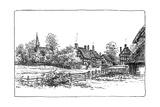 Luddington Village and New Church  Warwickshire  1885