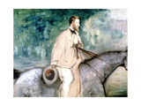 The Painter Guillaumin on Horseback  1870