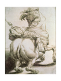 Rider Pierced by a Spear  16th Century