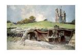 Rescue Station at Mont St Eloi  Artois  France  6 June 1915