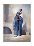 Veiled Egyptian Woman  Mid 19th Century