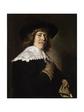 Portrait of a Young Man Holding a Glove  C1650