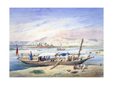 A Boat on the Nile  Egypt  19th Century