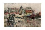 The Ruins of Ablain-Saint-Nazaire  Artois  France  December 1915
