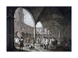 View of the Courtyard in the Royal Exchange with Merchants and Brokers  City of London  1788
