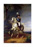 Equestrian Portrait of Emperor Alexander I  (1777-182)  1837