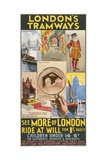 See More of London  London County Council (LC) Tramways Poster  1933