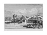 London Bridge under Construction  1827