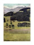 Landscape  Oaks at Stockhorn  1898