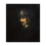Portrait of a Man with Helmet  17th Century