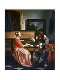 A Man and a Woman Seated by a Virginal  C1649-1667