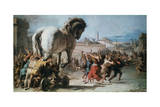 The Procession of the Trojan Horse into Troy  C1760