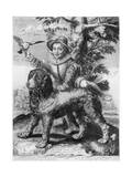 Goltzius's Engraving of the Son of His Friend  Theodore Frisius  Rome  1599