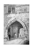 View of King John's Gate in the Abbey of St Saviour  Bermondsey  London  1807