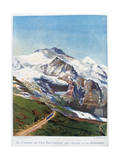 The Electric Railroad to Mount Jungfrau  Swiss Alps  19th Century