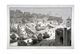 Bird's-Eye View of the Bishop of Winchester's Palace  Southwark  London  C1820