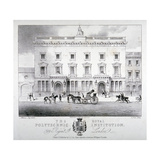 View of Regent Street Polytechnic with Horse-Drawn Vehicles in Front  London  C1840