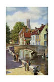 Bridge and Green Quay  Bruges  Belgium  C1924